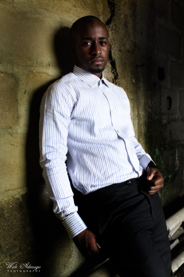 striped shirt, @Darkeyz, @waleadenuga, uncompleted building, model, Wale Adenuga Photography.