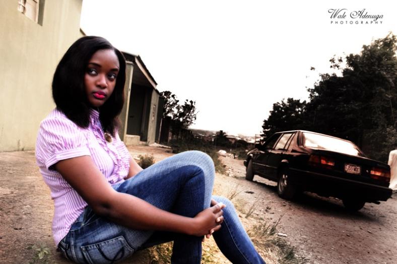 car, @pwetiemiss, blue jeans, model, road, Wale Adenuga studios