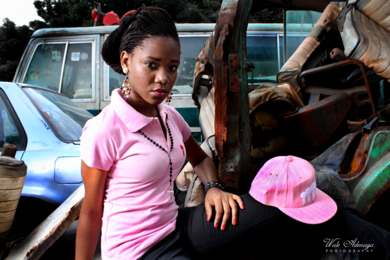 Pink, model,@FeMwiZZle, @waleadenuga, Black Republic clothing, Dead bus, Caps, mechanic shop