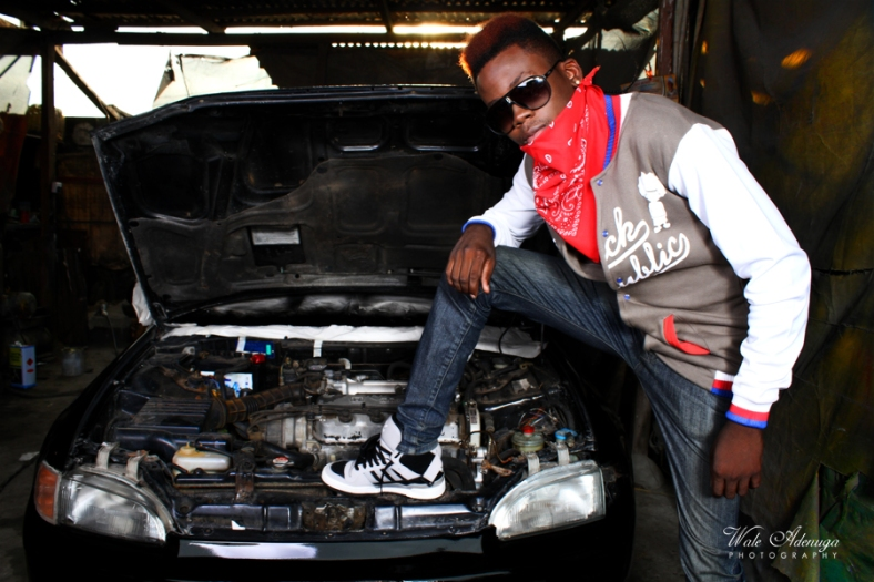 model, car, paintShop, jacket, red hair, Black Republic, Wale Adenuga studios, @FeMwiZZle,