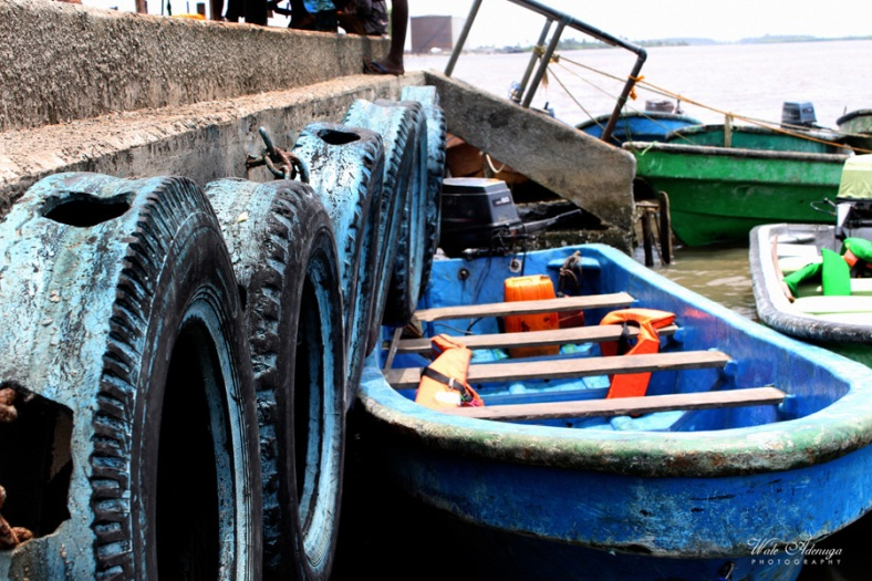 Boat, color, tyres, blue, red, green, orange, Wale Adenuga Studios, @waleadenuga