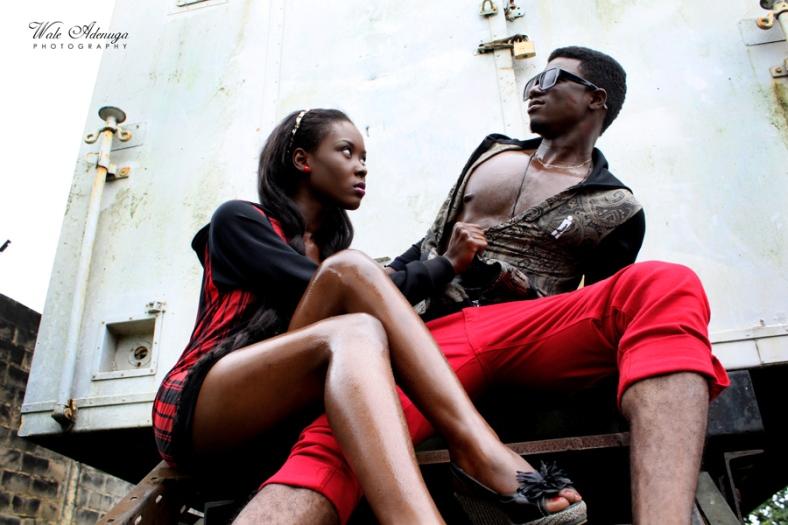 model, red pants, Hood, @AlpacinoMcboss, @mrINSTINCT, Wale Adenuga studios, Instinct Wears, Unilag