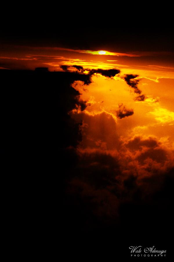 Late sunset, sky, clouds, orange, sun, @waleadenuga, Wale Adenuga Photography.