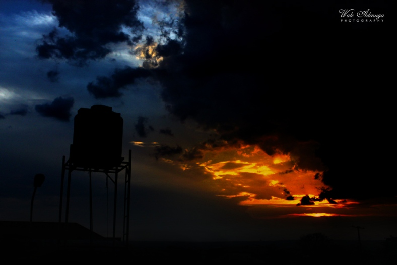 @waleadenuga, silhouettes, sunset, blue sky, street light, Wale Adenuga Photography