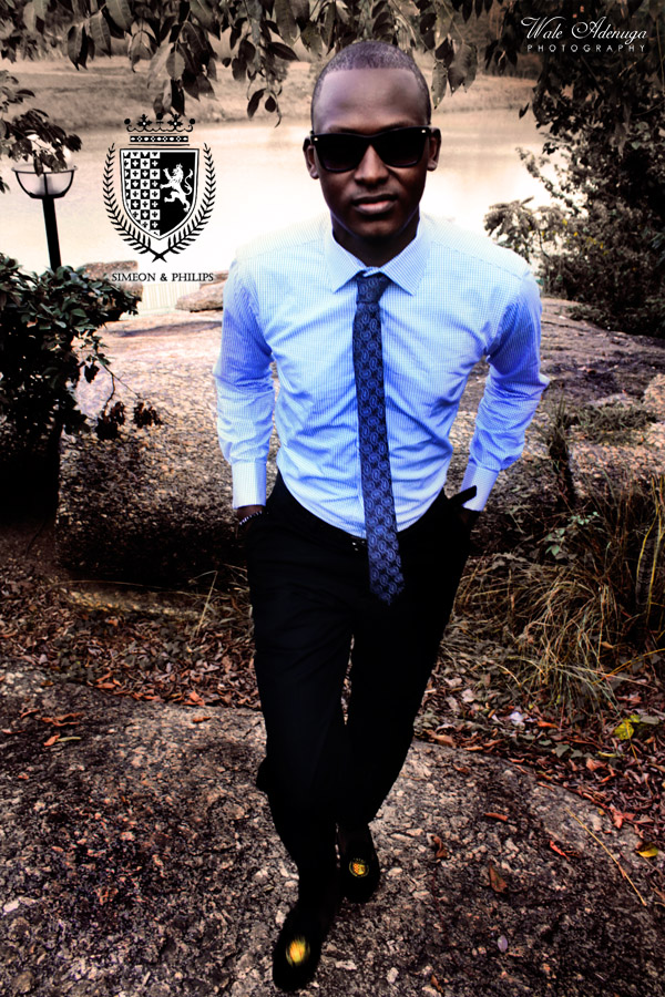 Simeon&Philips, shoes, Blue shirt, tie, Wale Adenuga Photography, @waleadenuga, Wale Adenuga Studios
