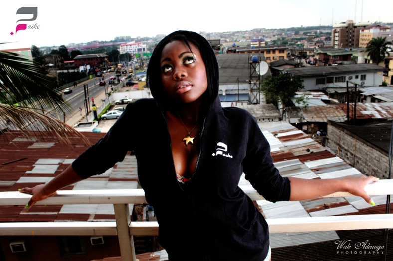 Lagos, City view, balcony, sweater, model, Faike clothing, Wale Adenuga Photography