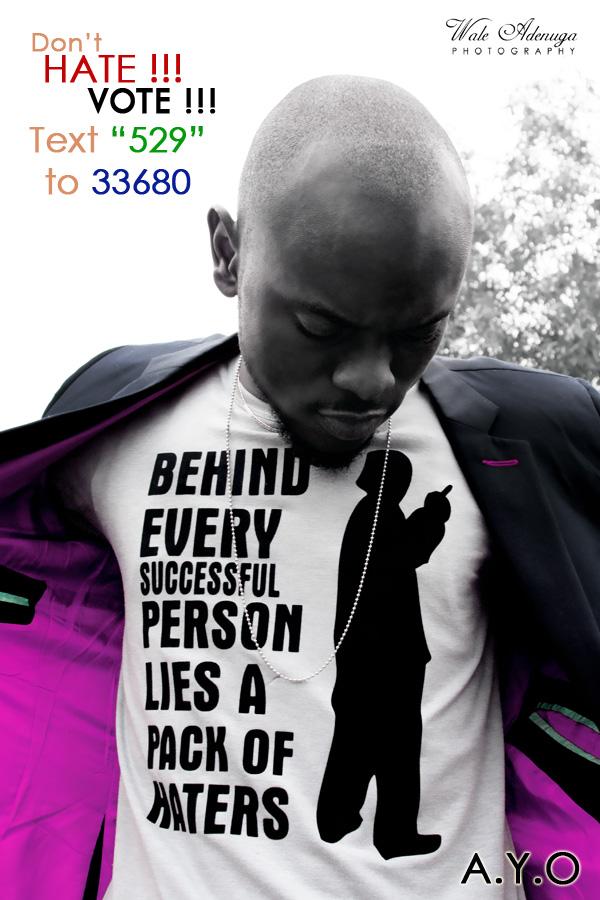 @AWhyoh, A.Y.O, 529, 33680,igerian iDols, Vote, Artist, Wale Adenuga Photography, @waleadenuga