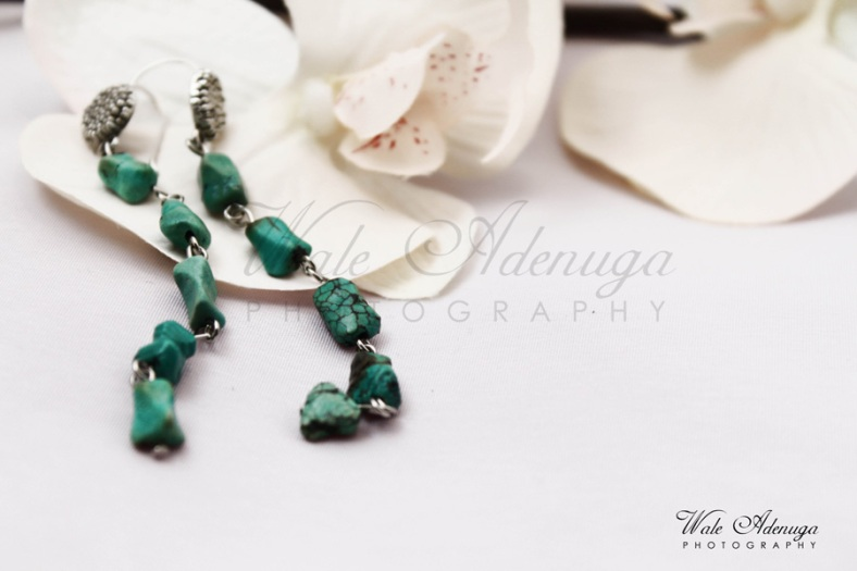 Panache, earrings, jewelry, studio, White roses, Wale Adenuga Photography, @waleadenuga