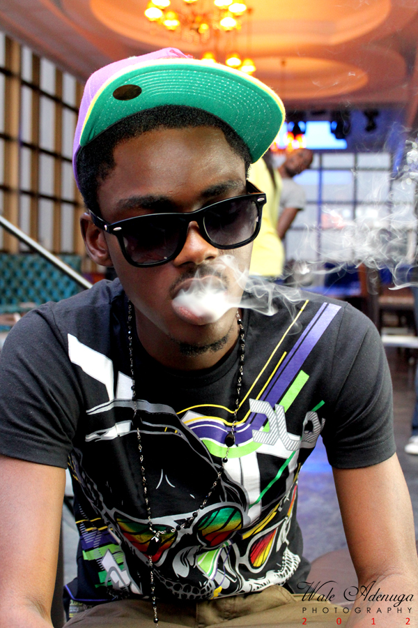 Toby, blowing the smokes, Photo of the Day, Wale Adenuga Photography, avenue Suites Bar, VI, Lagos