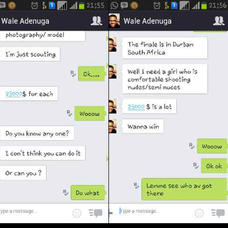 impostor! this is not Wale Adenuga, WA doesnt have a KIK acct